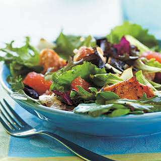 Grilled Salmon and Grapefruit Salad with Blood Orange Vinaigrette.