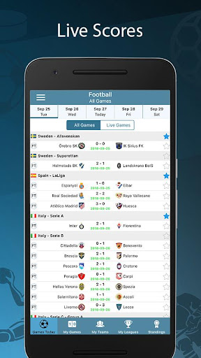 Score24 - Live Score Tracker 1.4 screenshots 1