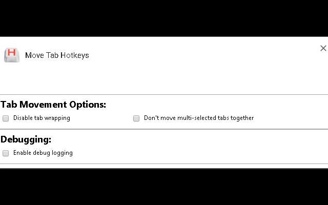 Move Tab Hotkeys (Chrome Number Pad Keys)