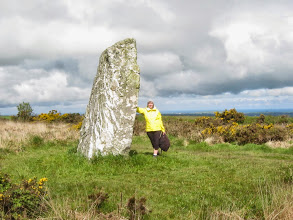 Photo: Taxi drops us at the Saint Breock Down Monolith