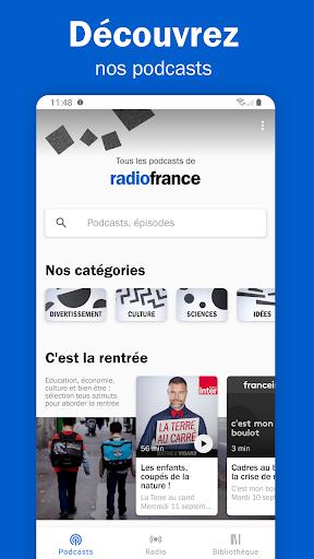 Radio France - podcasts, direct radios 6.5.2 screenshots 2