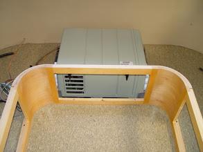 Photo: installed generator with access door opening