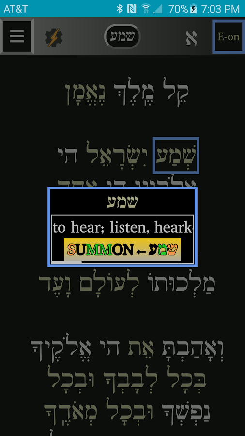 FlashE Hebrew: SE (free)- screenshot