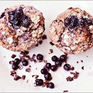 2 Cute Gluten-Free Vegan Blueberry Chocolate Muffins