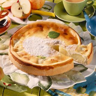 Apfelkuchen mit Quarkguss