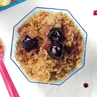 Roasted Cherries with Cocoa-Mocha Granita