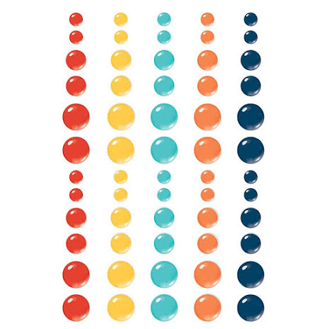 Simple Stories Enamel Dots 60/Pkg - School Life