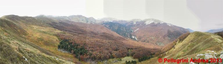 Photo: Panorama 8 dall 00 la valle dell Abetina Reale