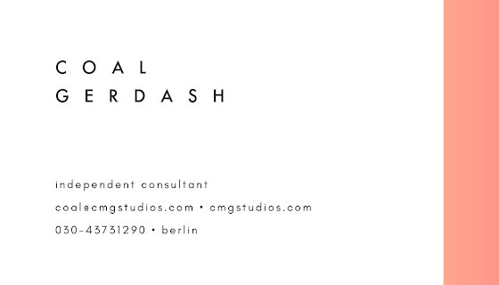 Gerdash Consultant Front - Business Card Template