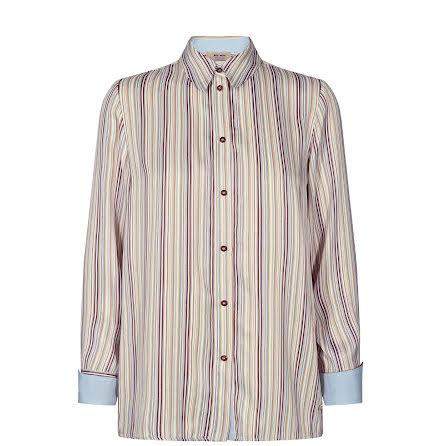 Mos Mosh Jodie river shirt light blue stripe