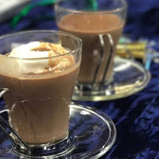 Slow-Cooker Hot Chocolate with Frozen Whipped Cream Dollops.