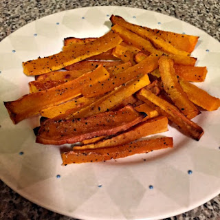 Baked Butternut Squash Fries Paleo