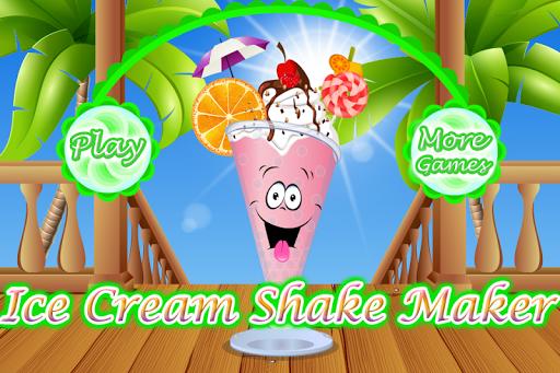 アイスクリームメーカーを振ります