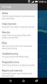 HTC Help Screenshot 2