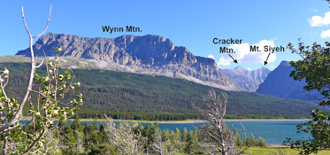 Photo: We hiked to up that valley on the right to Cracker Lake (at the base of Mt. Siyeh). Lake Sherburne is in the foreground.