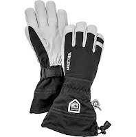 Army Leather Heli Ski 5-fingerhandske Svart