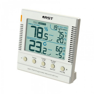 Термогигрометр цифровой большой дисплей белый RST