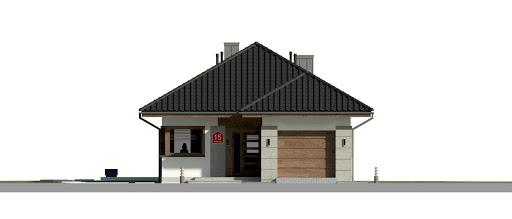 Dom przy Pastelowej 15 bis - Elewacja przednia