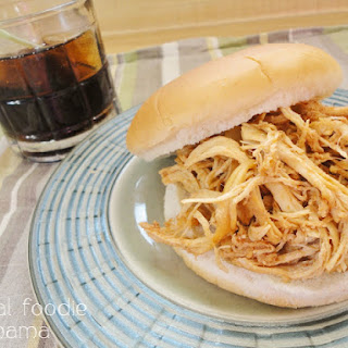 Slow Cooker Captain & Coke Pulled Chicken