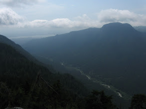 Photo: View to the south-west: Lynn creek, Mt Fromme...