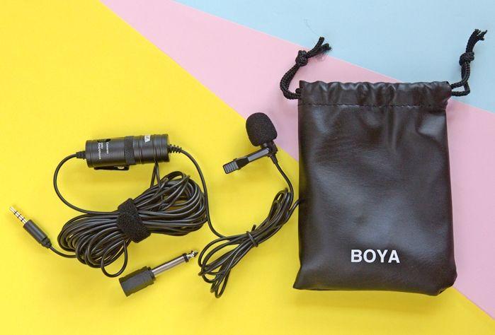 Mikrofon BOYA BY-M1 bersama aksesori