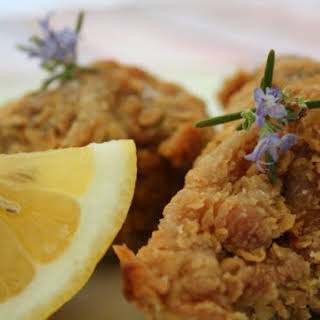 Rosemary-scented, Extra-crispy Fried Chicken.