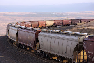 Photo: 110713 First Unit Train of Canola Seed going to Pacific Coast Canola in Warden, Washington