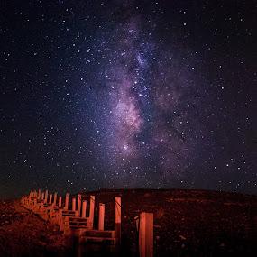 Waaay Milky by Maya Bar - Landscapes Starscapes ( milkyway, stairs, stars, night photography )