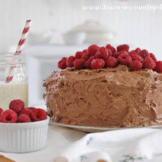Dark Chocolate Raspberry Cake.