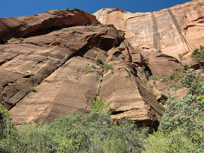 Photo: Sheared cliff walls make Zion National Park one of the most popular areas for rock climbing.  I'll stick to showing you the trail...