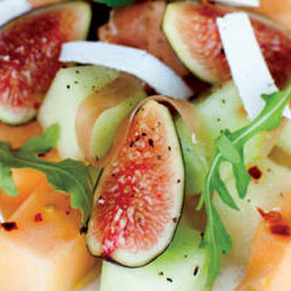 Summer Melon with Fig and Prosciutto.