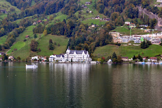 Photo: We arrive at Vitznau for our boat trip on Lake Lucerne to the city...One of the five star resorts on the lake