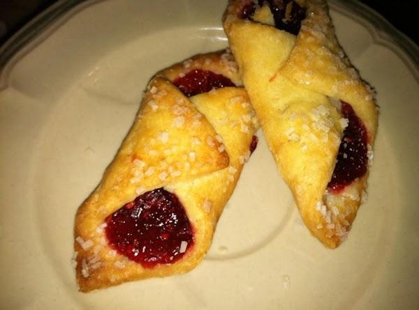 Raspberry Jam with Course White Sugar or Sparkling White  Sugar.