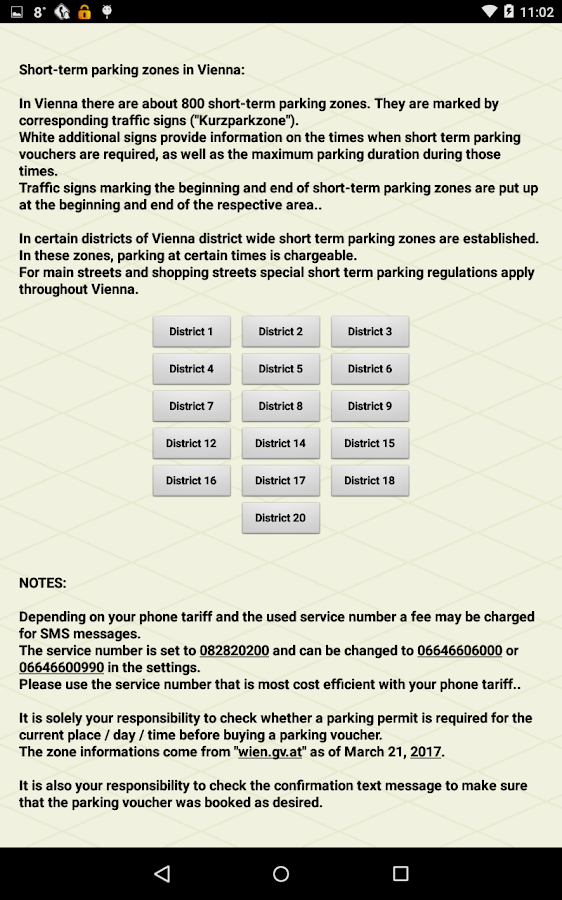 paperless.Parking-Vienna Pro,parking with city map- screenshot