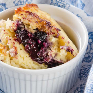 Blueberry Pudding Cake with Lime