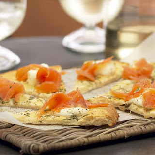 Smoked Salmon and Lemon Flat Bread