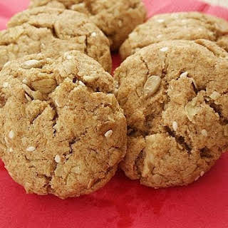 Healthy Olive Oil Cookies with Sunflower & Sesame Seeds.