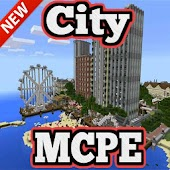 Deep Ocean City map for MCPE