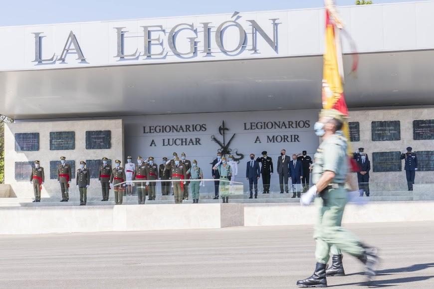 Una imagen del acto celebrado este lunes en la Base Álvarez de Sotomayor.