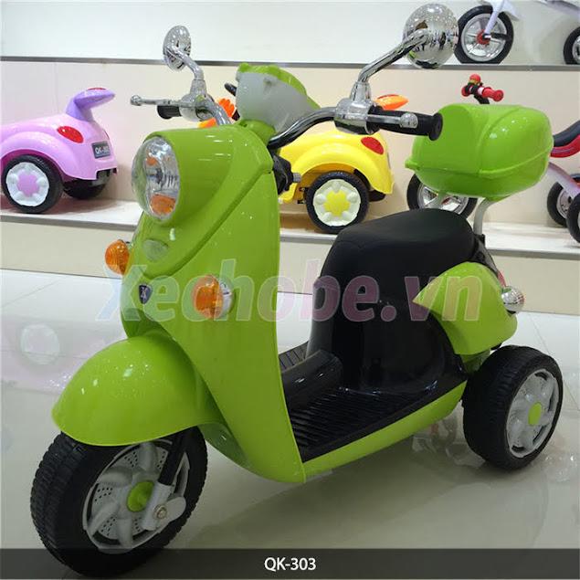 xe máy điện 3 bánh cho trẻ QK