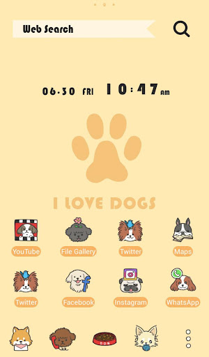 Cute Wallpaper I Love DOGS Theme 1.0.0 Windows u7528 1
