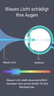 Blaulichtfilter - Nachtmodus, Schützt die Augen Screenshot
