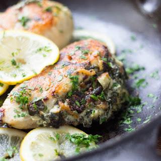 Spinach Artichoke Dip Stuffed Chicken.