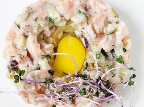 Salmon Tartar With Mango Salsa Recipe