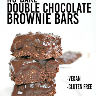 Oil Free No Bake Double Chocolate Brownie Bars.