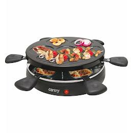 Plita grill electric 1200W, Gratar Raclette Fondue pentru 6 persoane
