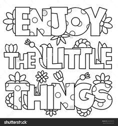 Little things valentine coloring page