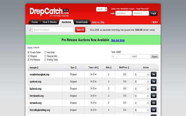 RB DropCatch Exporter