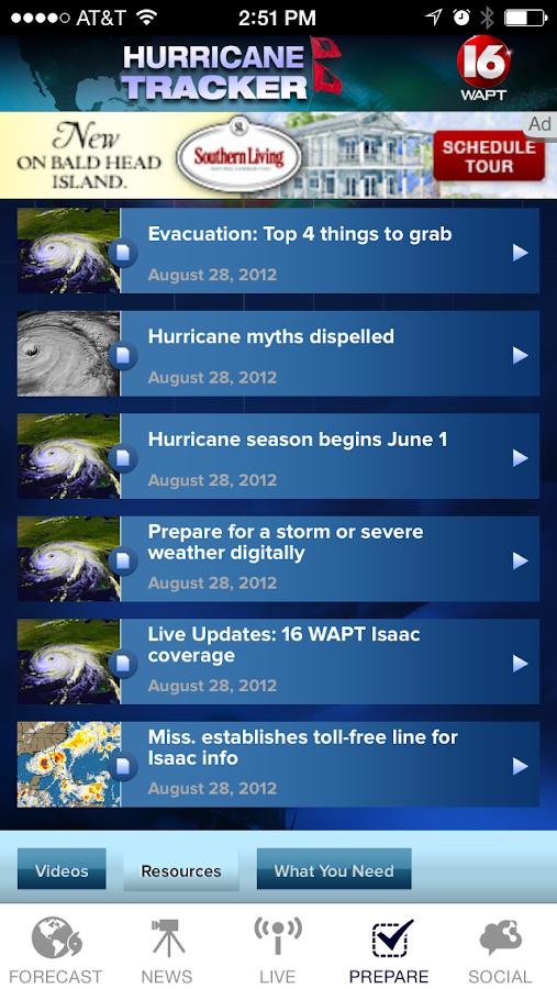 Hurricane Tracker 16 WAPT News - screenshot