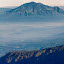 Here I Stand by Aditya Kusuma - Landscapes Mountains & Hills ( frame, red, mountain, nature, indonesia, mahameru, landscape, soft )